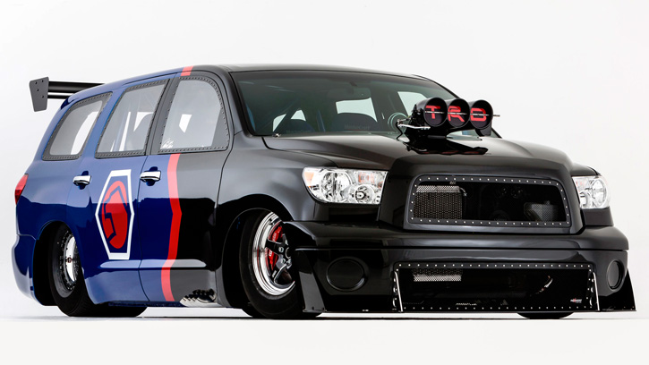 Toyota Sequoia Family Dragster by Antron Brown Team