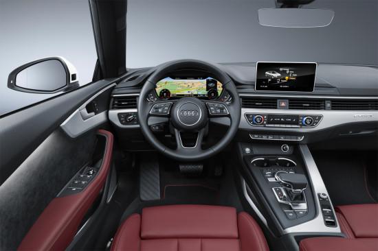 интерьер кабриолета Audi A5 2-е поколение