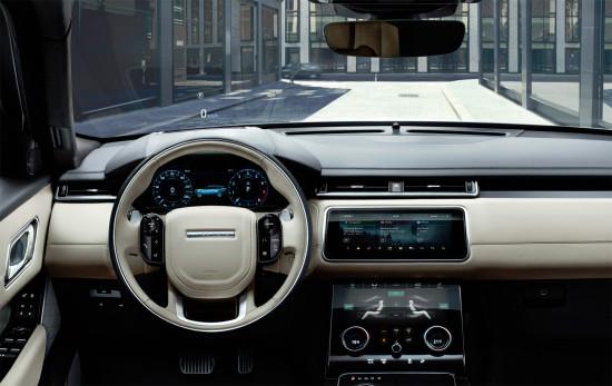 центральная консоль и приборная панель Range Rover Velar