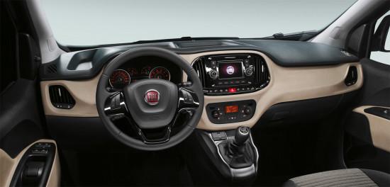 передняя панель и центральная консоль Fiat Doblo 2 Panorama