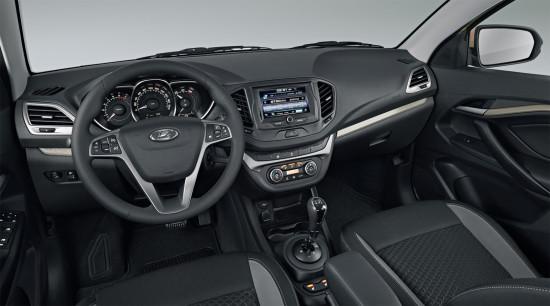 интерьер универсала Lada Vesta SW