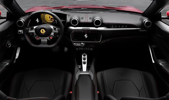 интерьер салона Ferrari Portofino