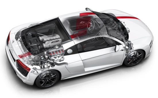 основные узлы и агрегаты заднеприводного Audi R8 V10