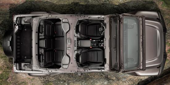 компоновка салона Jeep Wrangler Unlimited (JL)