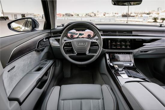 интерьер салона Audi A8 (2018-2019)