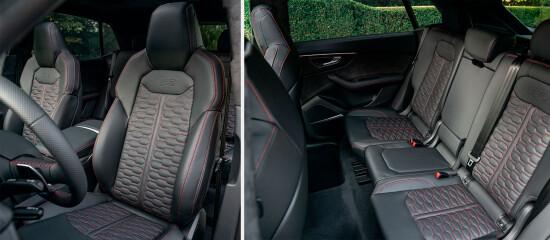 передние кресла и задний диван RSQ8 2020
