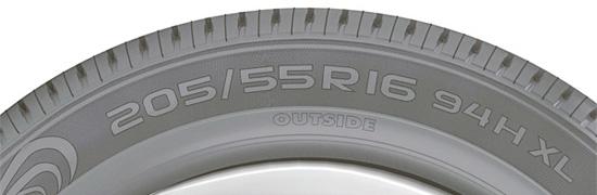 основная маркировка автомобильных шин