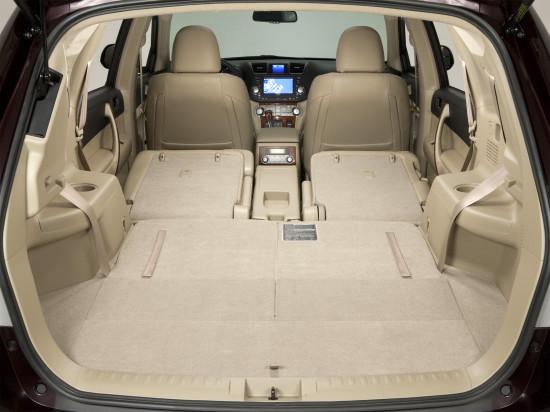 багажное отделение Toyota Highlander 2
