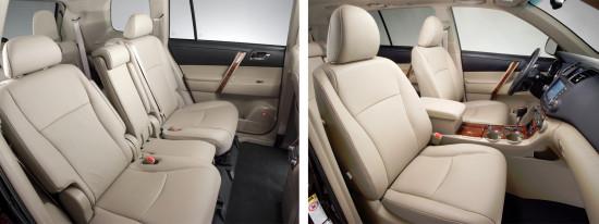 интерьер салона Toyota Highlander 2