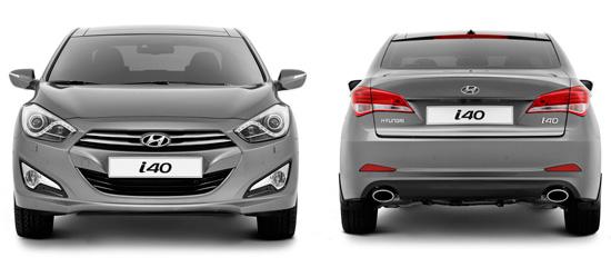 седан Hyundai i40 до рестайлинга 2015 года