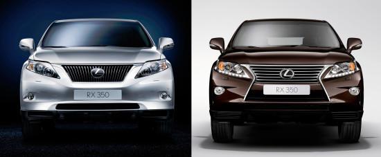 Lexus RX (AL10) до и после рестайлинга 2012 года