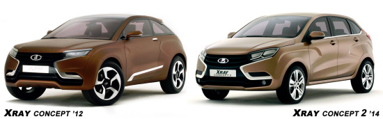 концепты Lada XRay