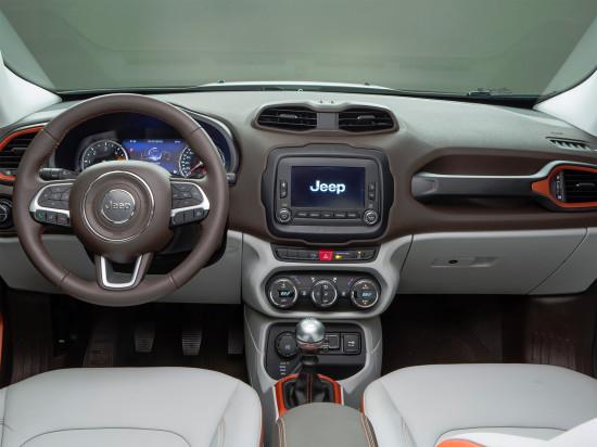 передняя панель и центральная консоль Jeep Renegade