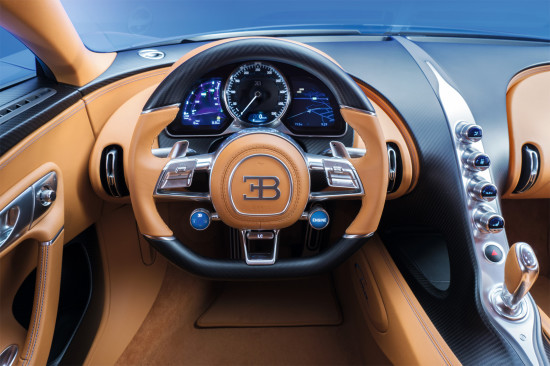 интерьер Bugatti Chiron