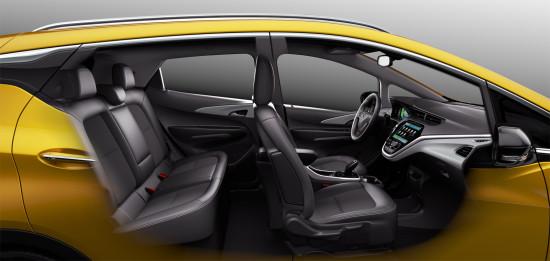 в салоне Opel Ampera-e