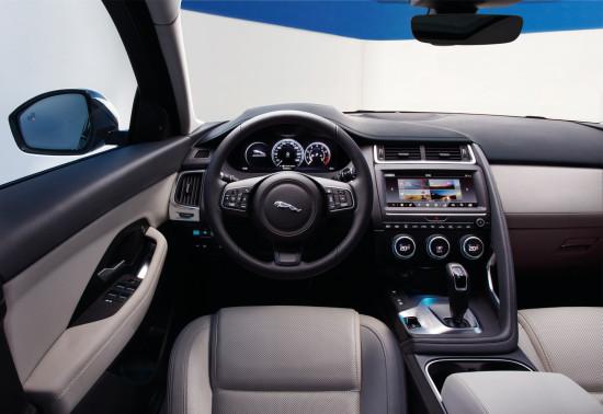 приборная панель и центральная консоль Jaguar E-Pace